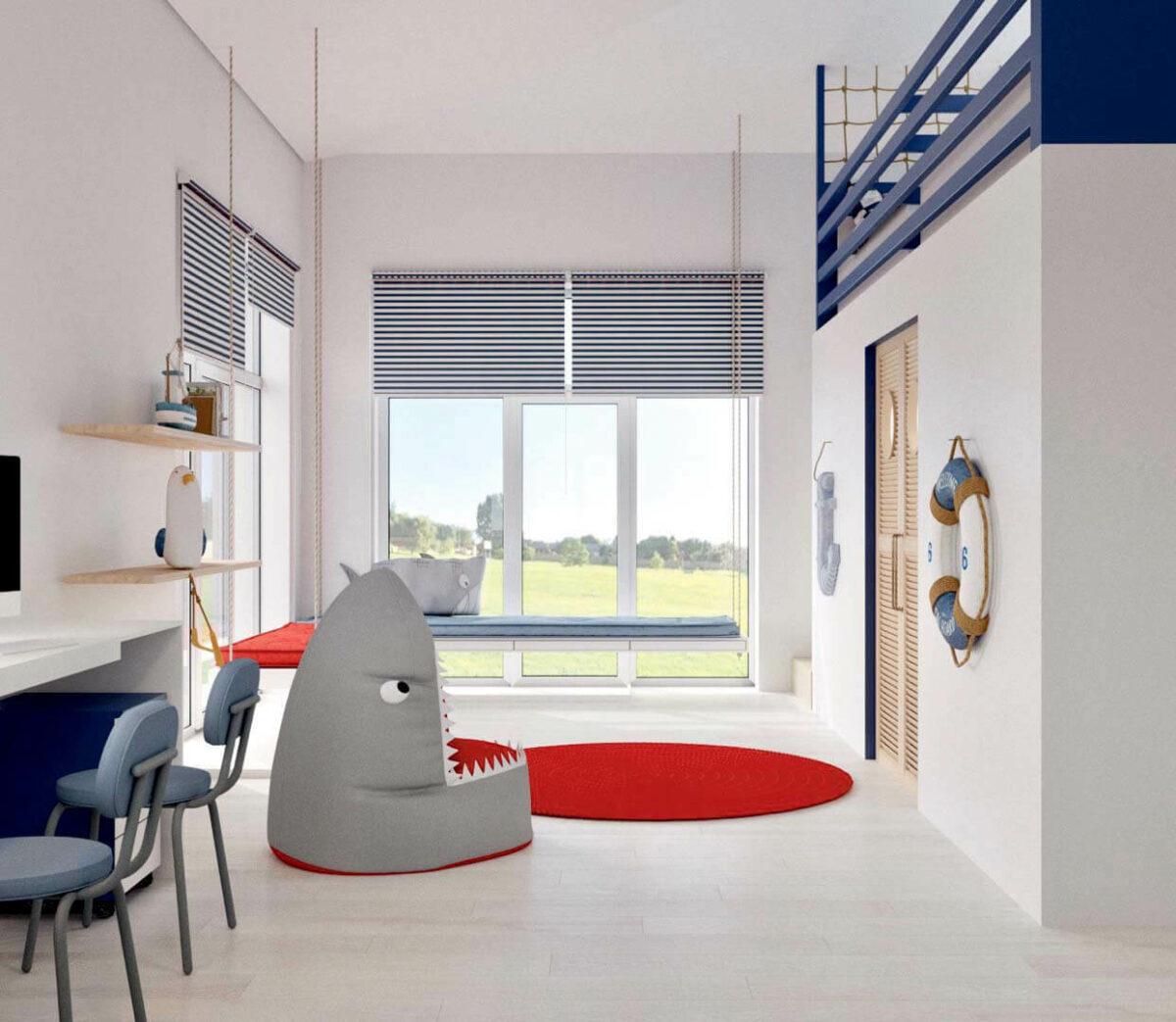 Детская мебель для комнаты мальчика проект 3351-4