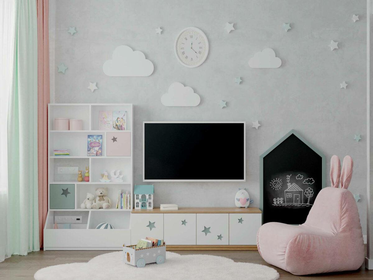 Детская мебель в комнату девочки 1-5 лет проект 5325-1