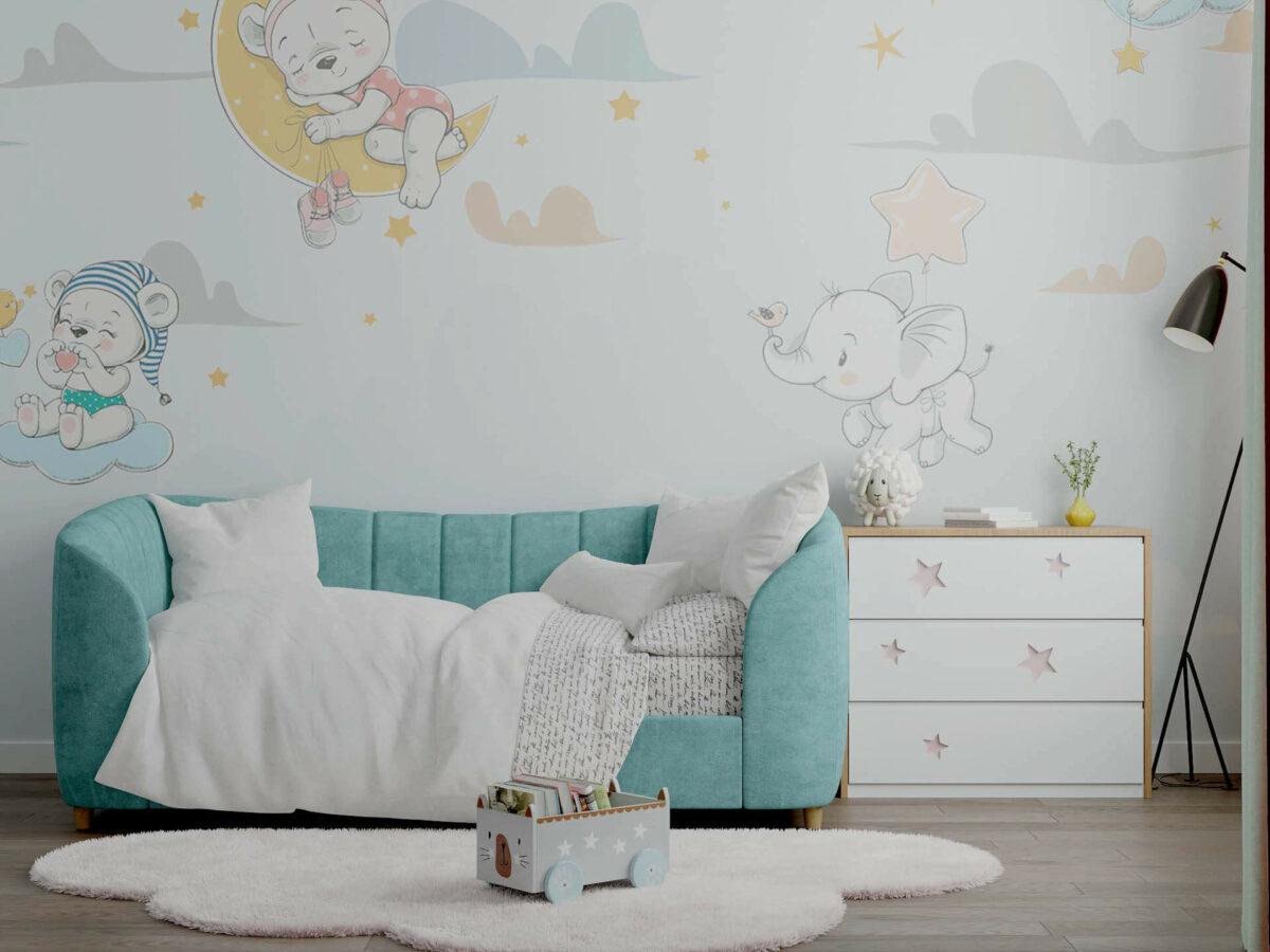 Детская мебель в комнату девочки 1-5 лет проект 5325-4