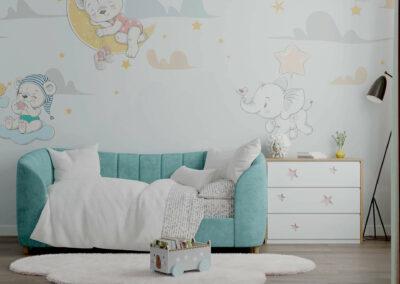 Детская мебель в комнату девочки 1-5 лет — проект 5325
