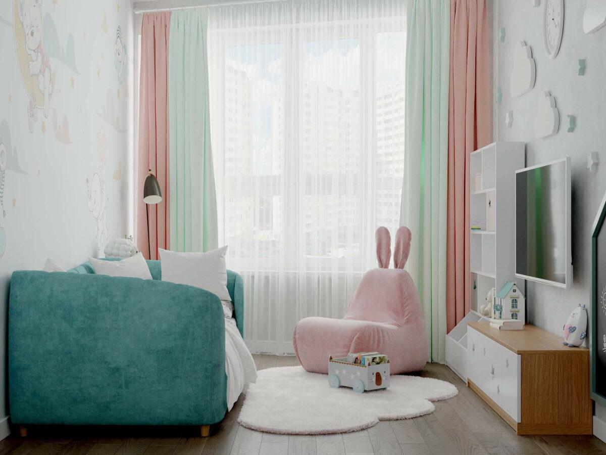 Детская мебель в комнату девочки 1-5 лет проект 5325-5