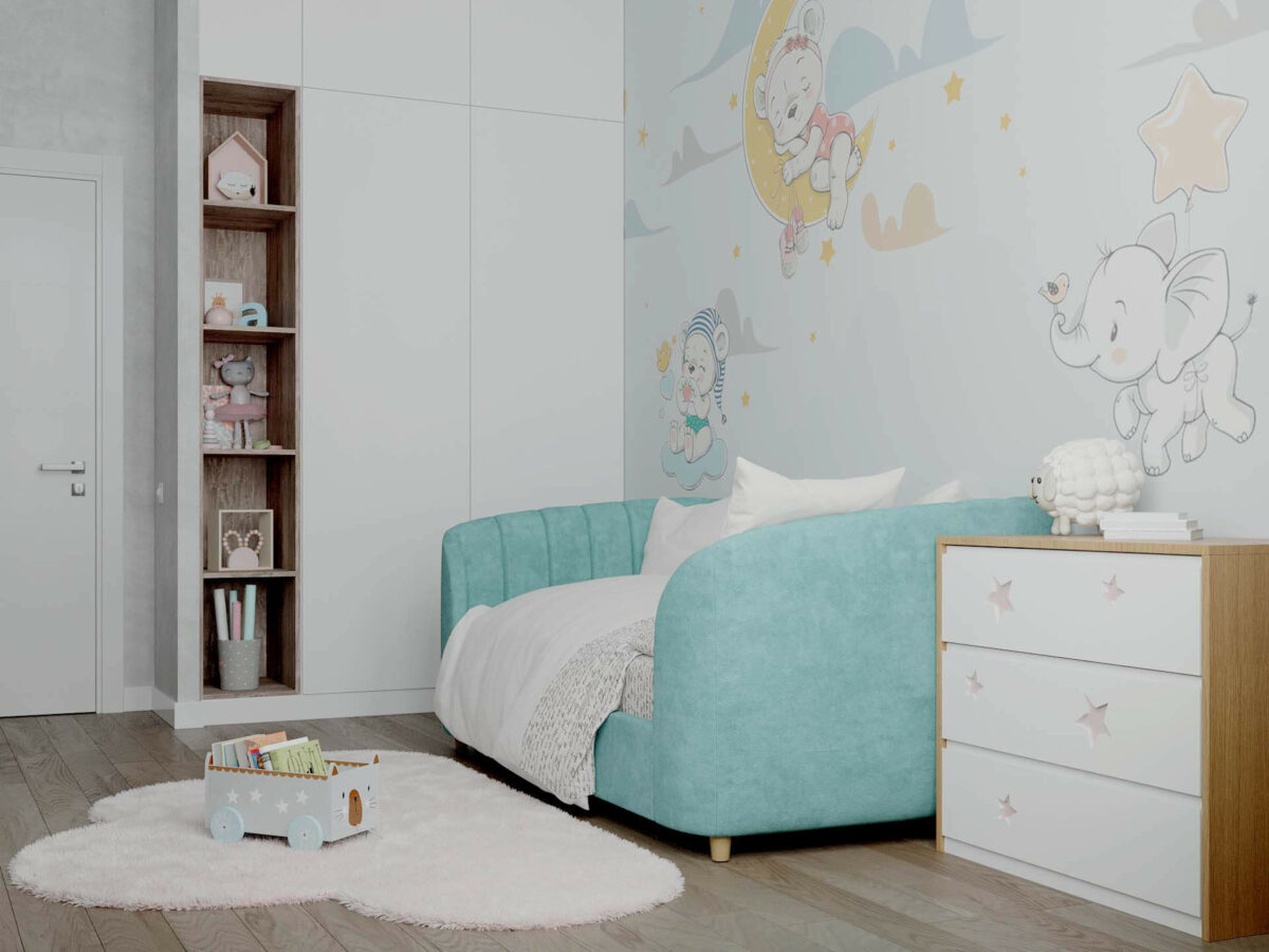 Детская мебель в комнату девочки 1-5 лет проект 5325-6