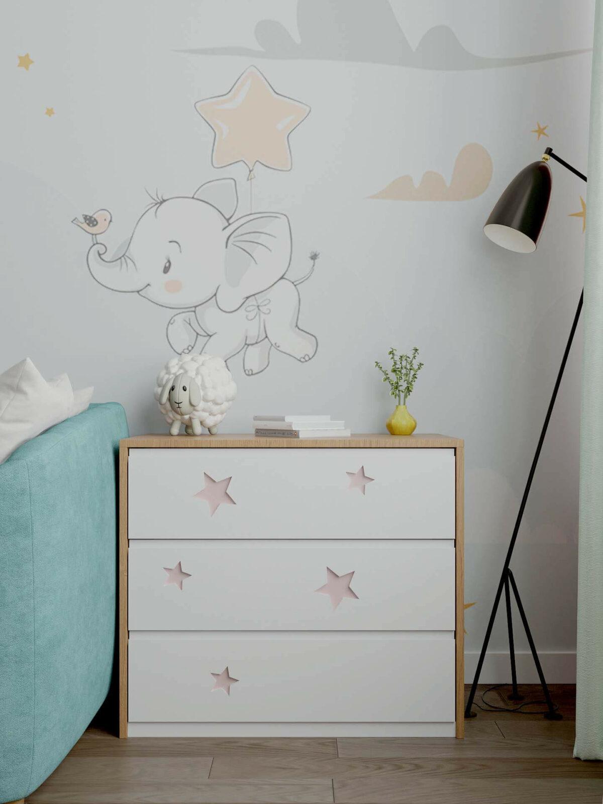 Детская мебель в комнату девочки 1-5 лет проект 5325-7