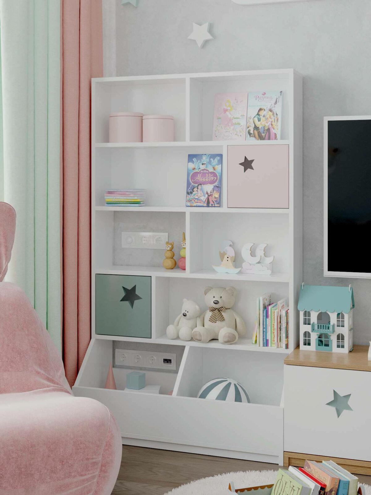Детская мебель в комнату девочки 1-5 лет проект 5325-8