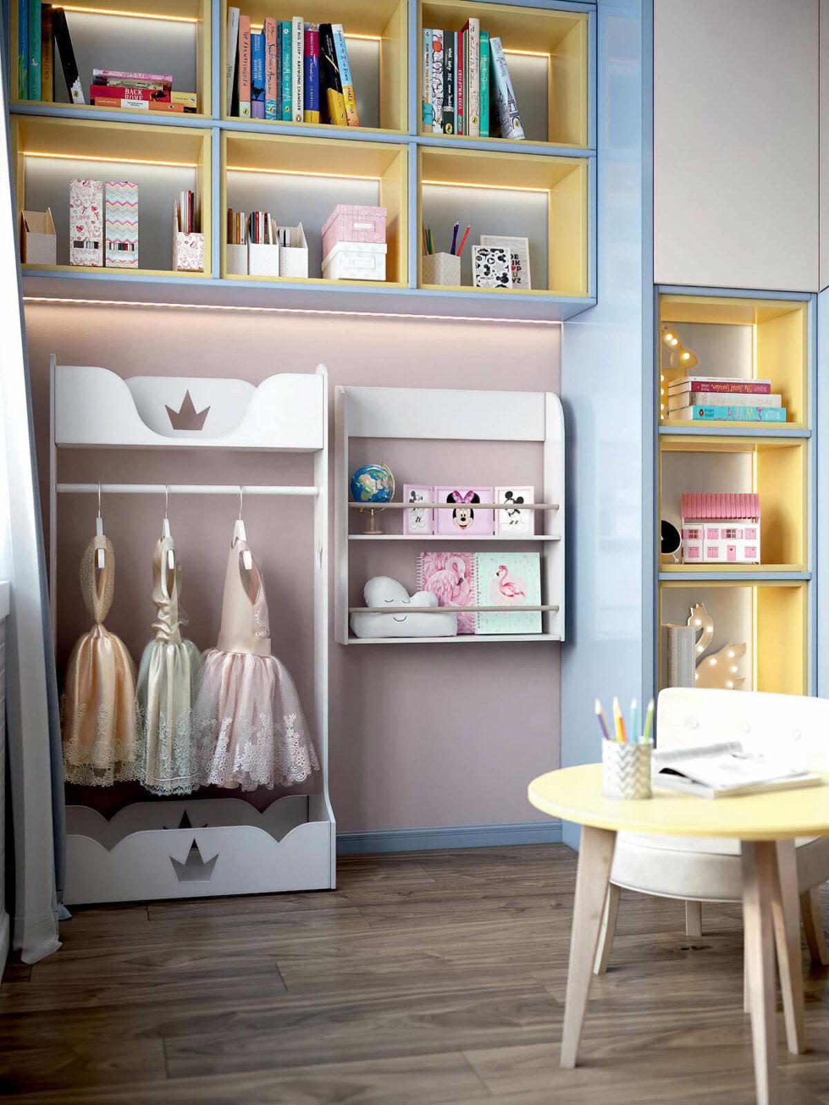 Детская мебель в комнату девочки проект 3983-1