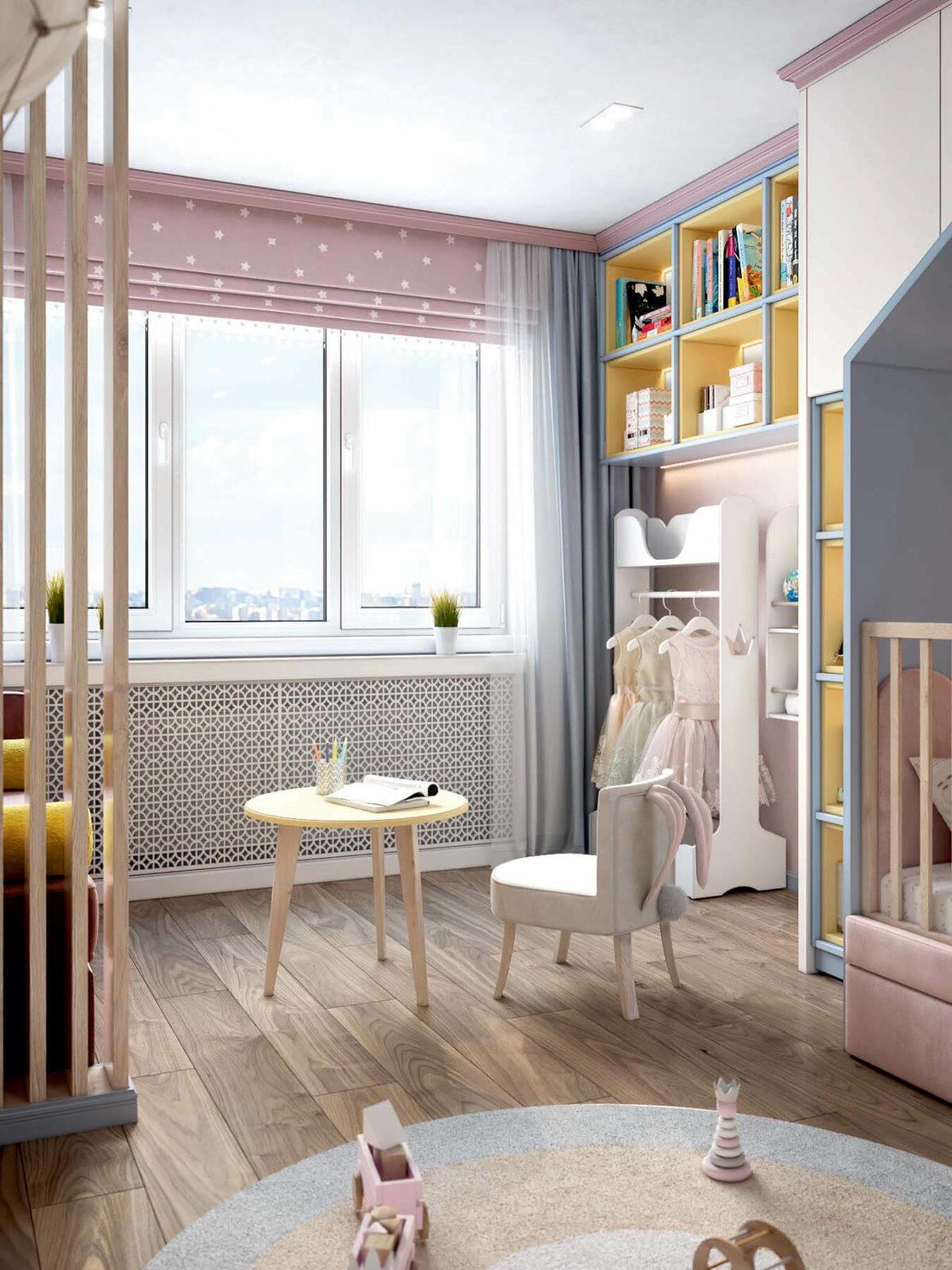 Детская мебель в комнату девочки проект 3983-10
