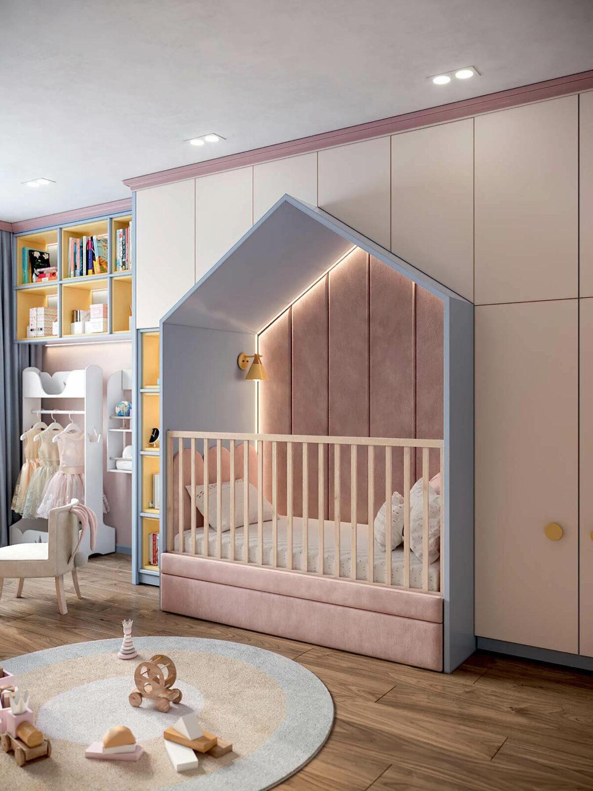 Детская мебель в комнату девочки проект 3983-2