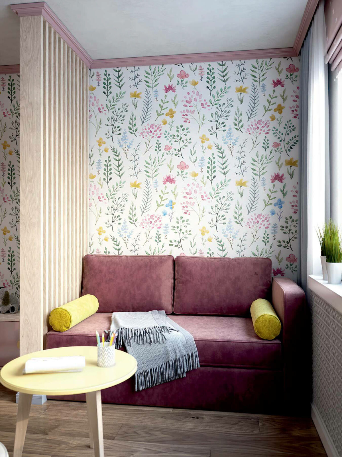 Детская мебель в комнату девочки проект 3983-3