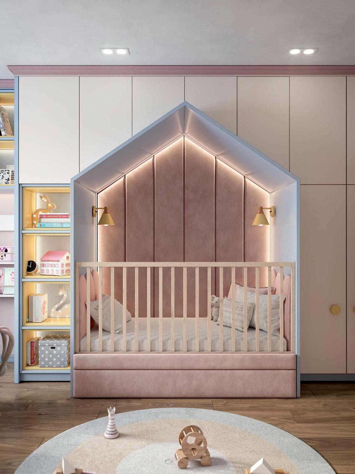 Детская мебель в комнату девочки проект 3983-5