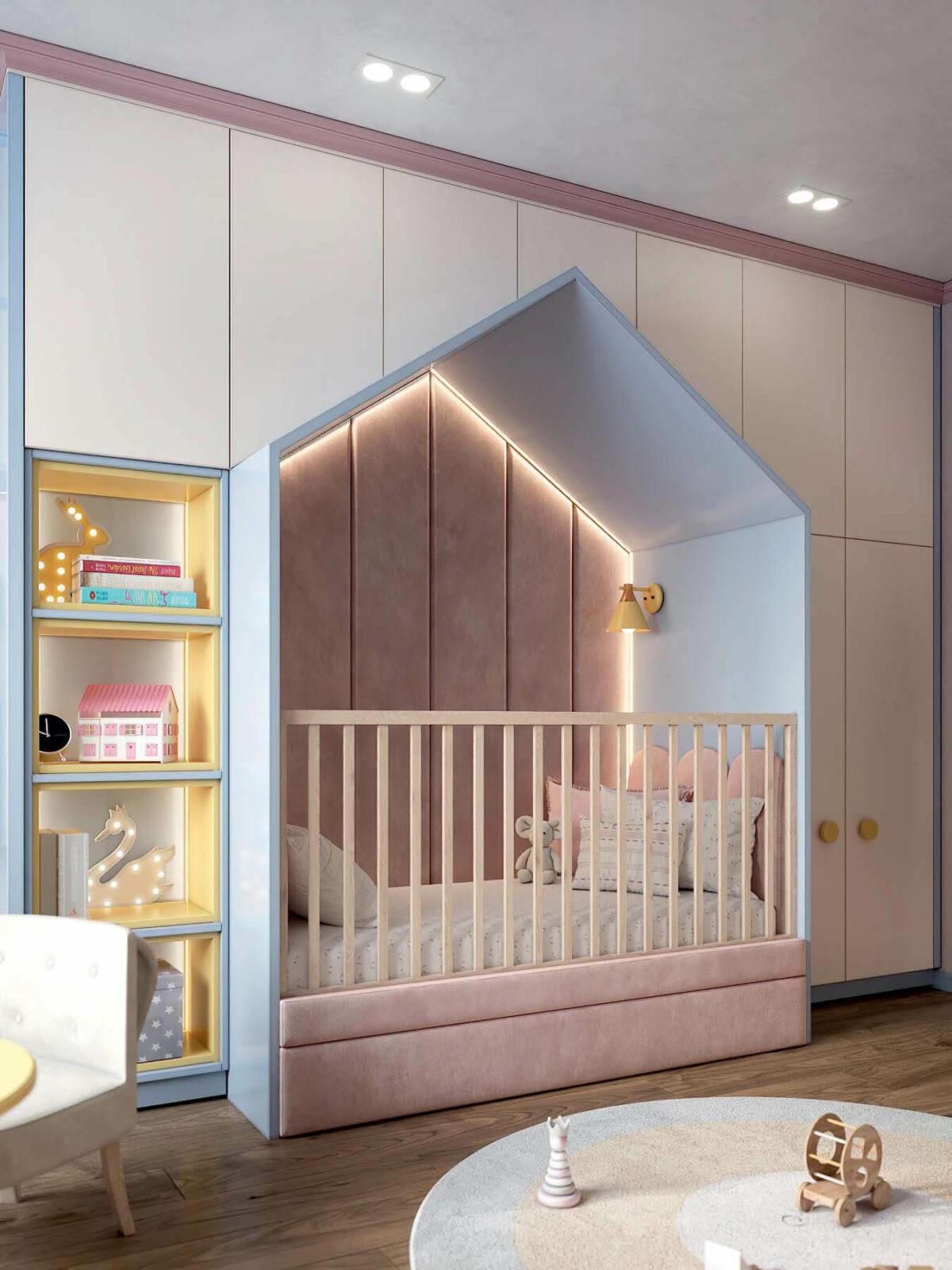 Детская мебель в комнату девочки проект 3983-6