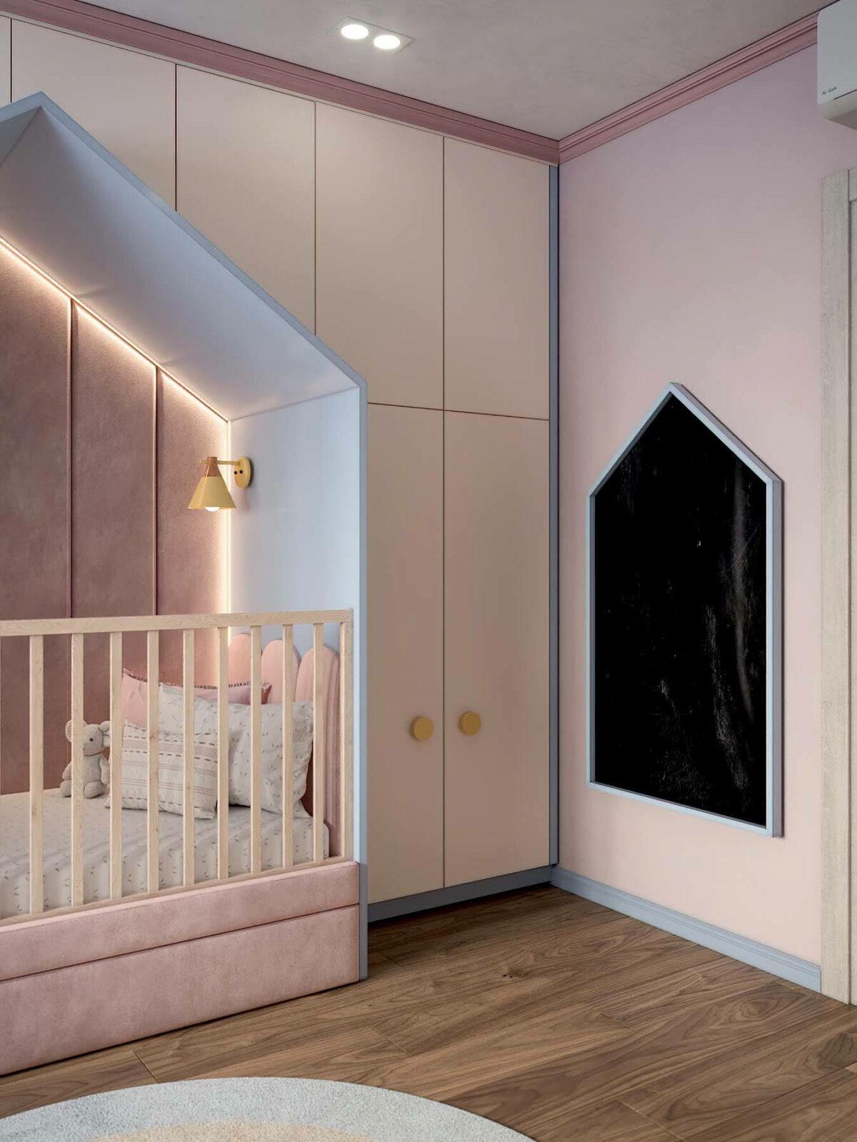 Детская мебель в комнату девочки проект 3983-8