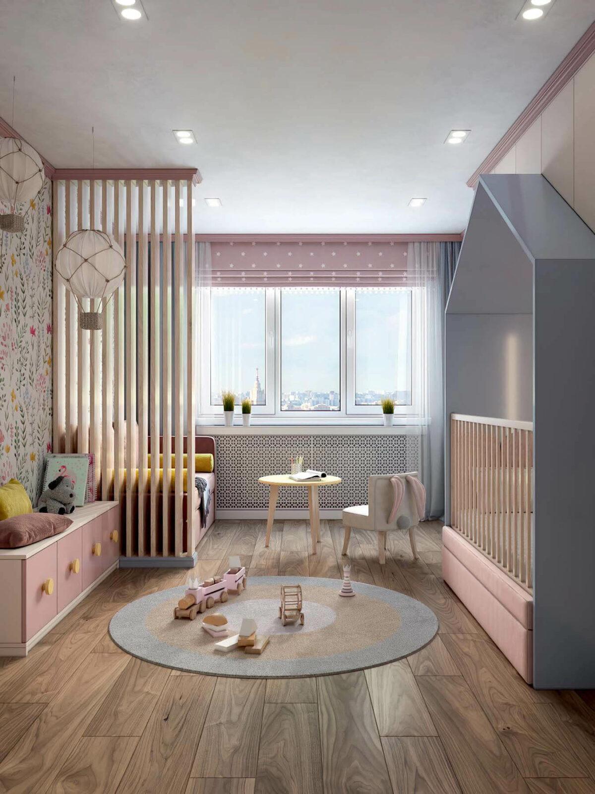 Детская мебель в комнату девочки проект 3983-9