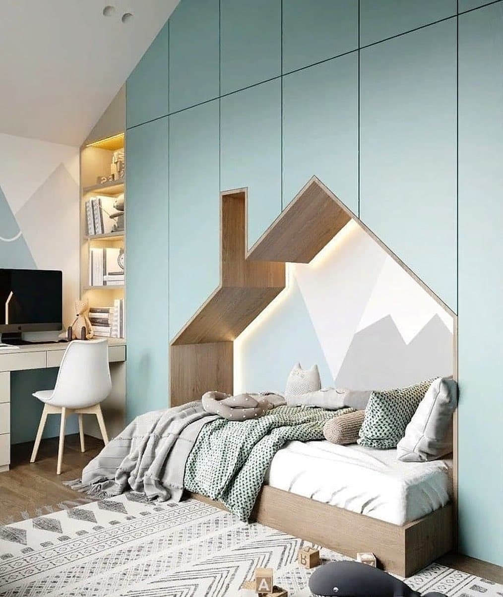 Детская спальня с игровой зоной на 2 этаже 1