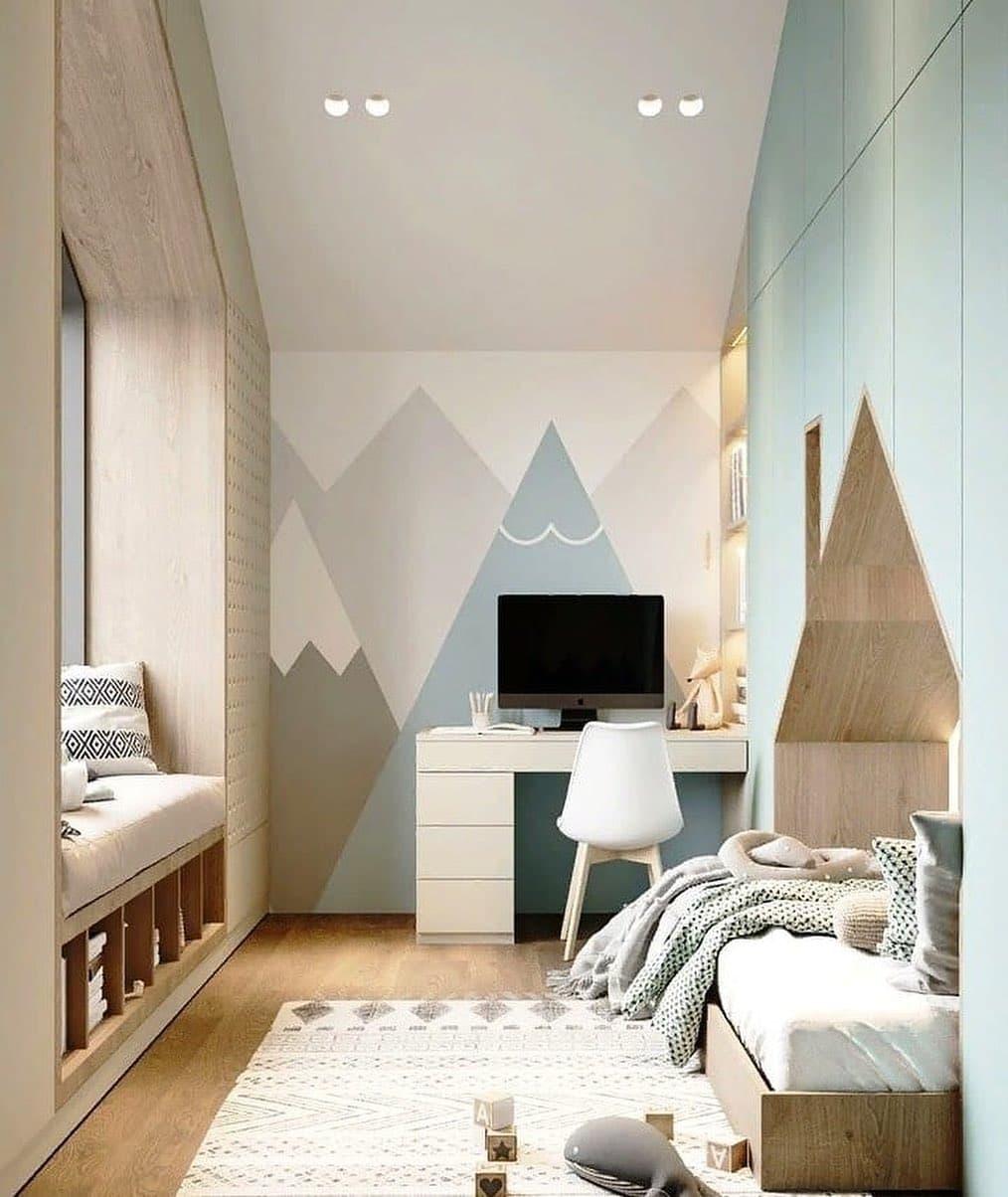 Детская спальня с игровой зоной на 2 этаже 2