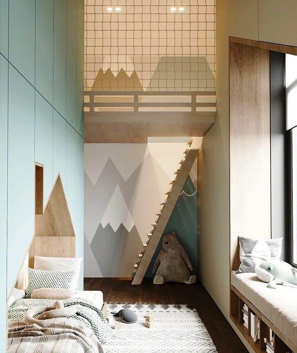 Детская спальня с игровой зоной на 2 этаже 3