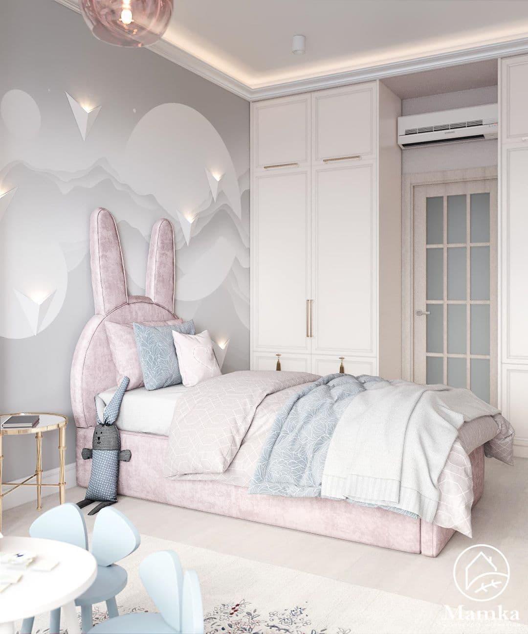 Детская спальня в розовых для маленькой девочки 1