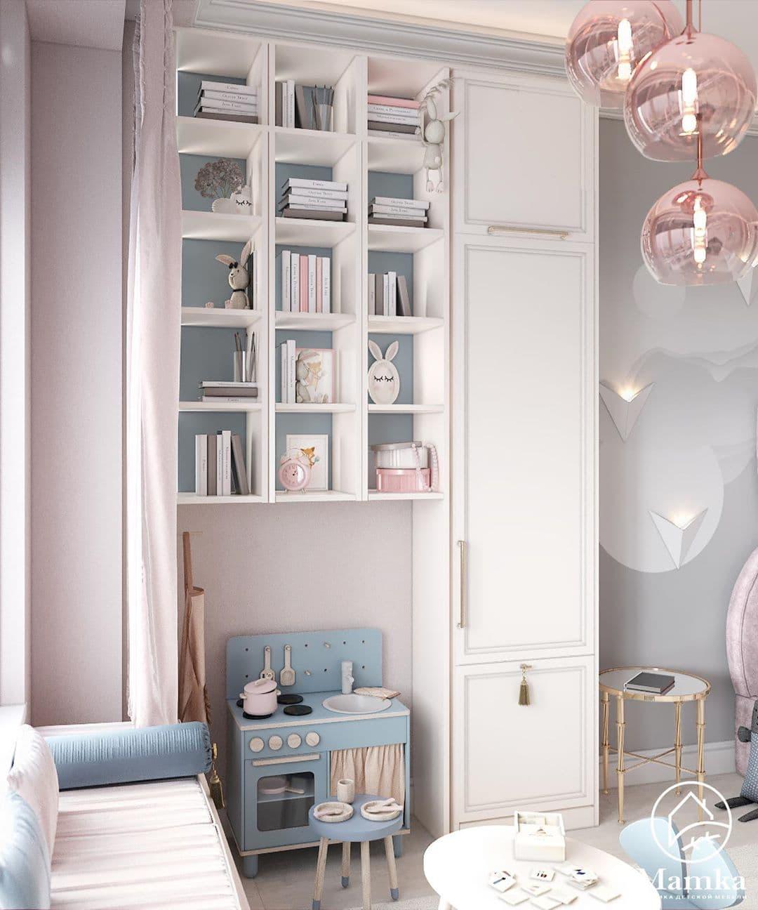 Детская спальня в розовых для маленькой девочки 4