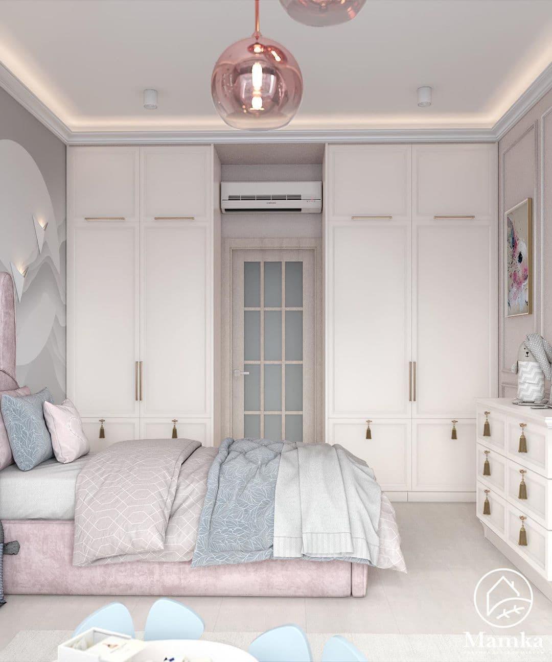 Детская спальня в розовых для маленькой девочки 5