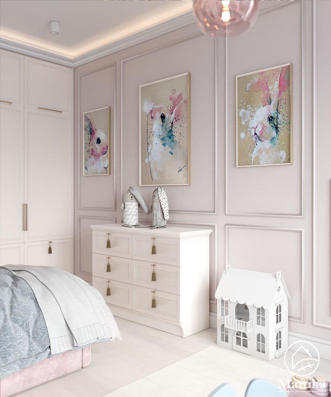 Детская спальня в розовых для маленькой девочки 6