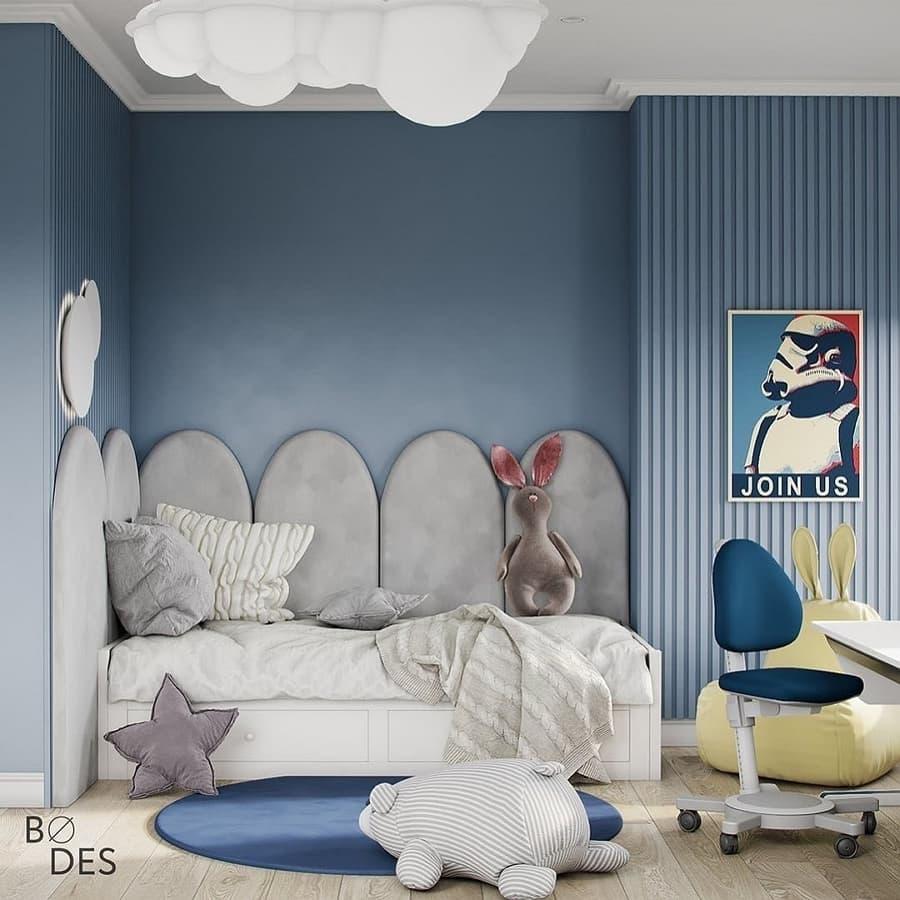 Детская в сине-голубых тонах 4