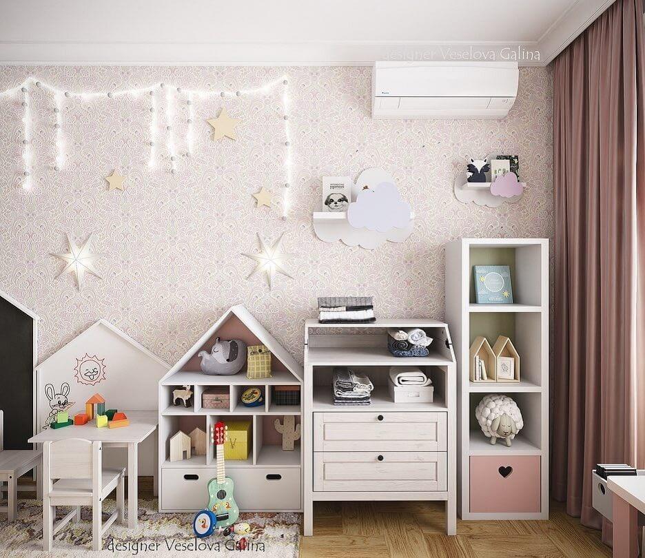 Дизайн детской для девочки 4