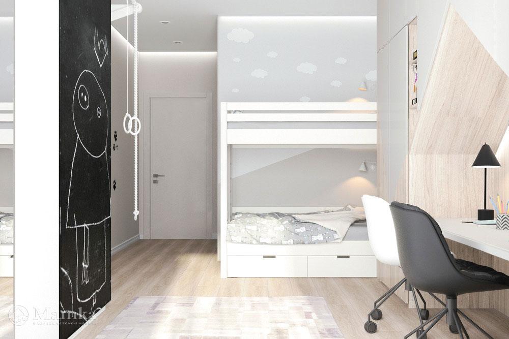Дизайн детской комнаты для разнополых детей – полноценный уют для каждого из малышей