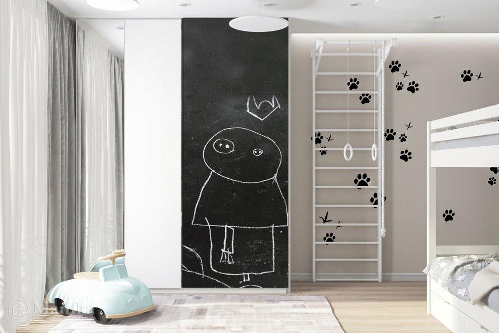 Дизайн детской для разнополых детей с практичным и уютным наполнением 3