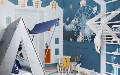 Дизайн интерьера детской комнаты для дошкольника — необычное решение в стиле холодного Заполярья или жарких тропиков