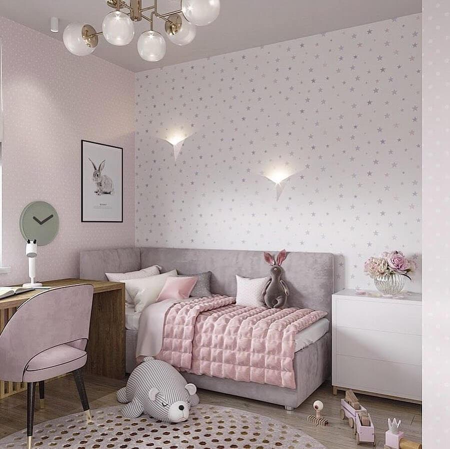 Дизайн детской комнаты для двух сестер 3