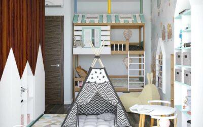 Дизайн детской комнаты для мальчиков-близнецов — эксклюзивный интерьер в светлых тонах