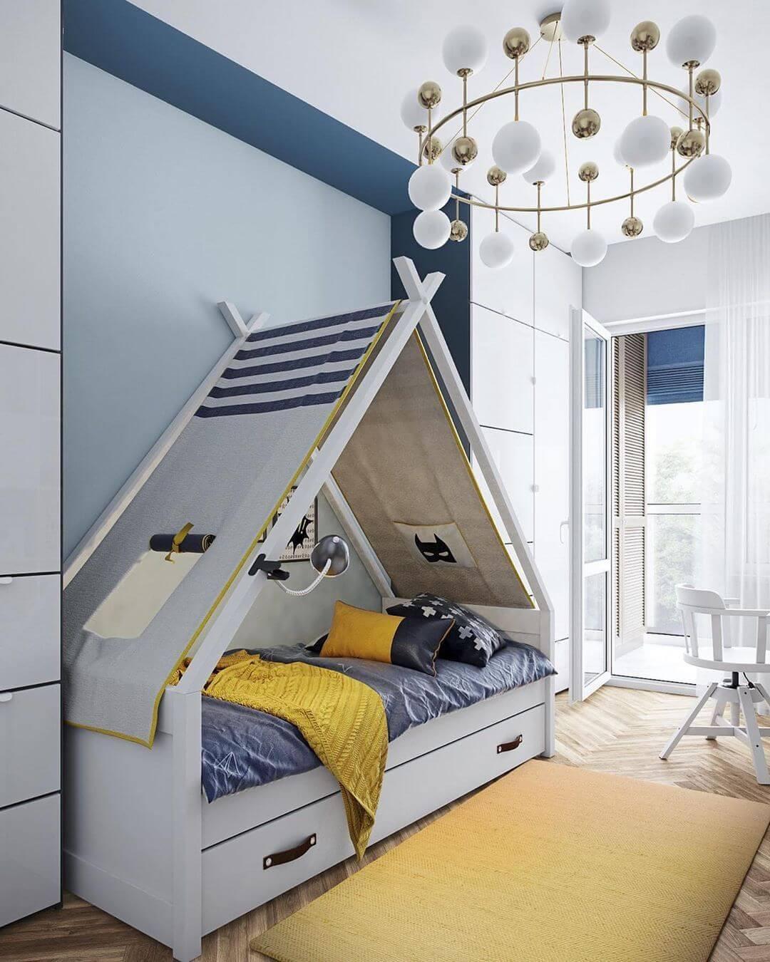 Дизайн детской комнаты для школьника 1