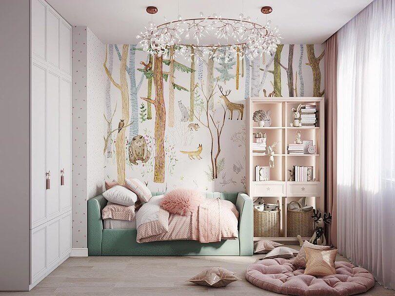 Дизайн детской комнаты в лесном стиле 1