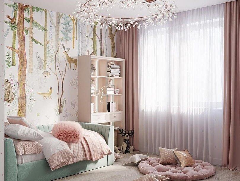 Дизайн детской комнаты в лесном стиле 2