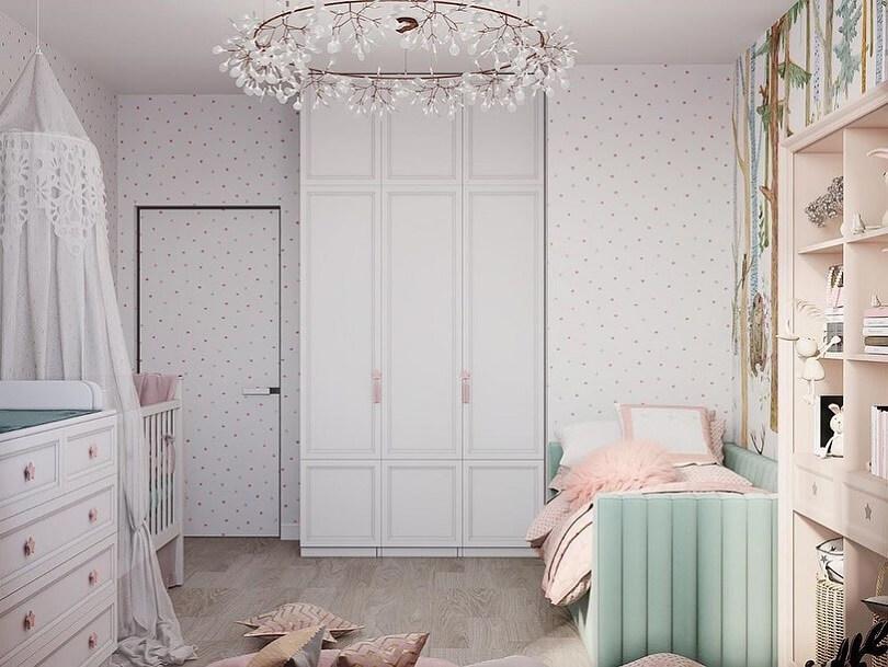 Дизайн детской комнаты в лесном стиле 3