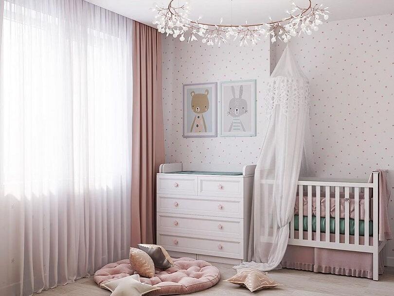 Дизайн детской комнаты в лесном стиле 4