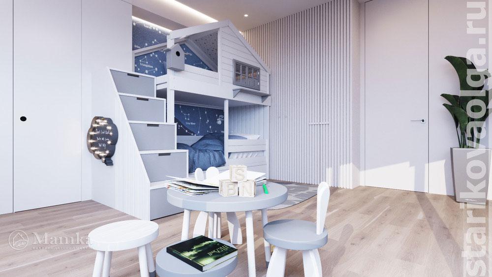 Дизайн интерьера детской комнаты, основанный на стильности и комфорте 1
