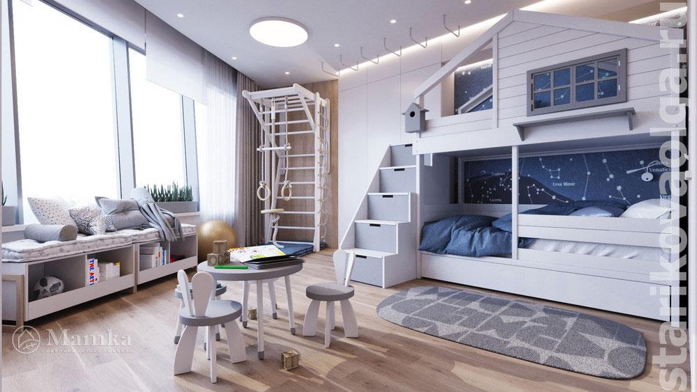 Дизайн интерьера детской комнаты, основанный на стильности и комфорте 2