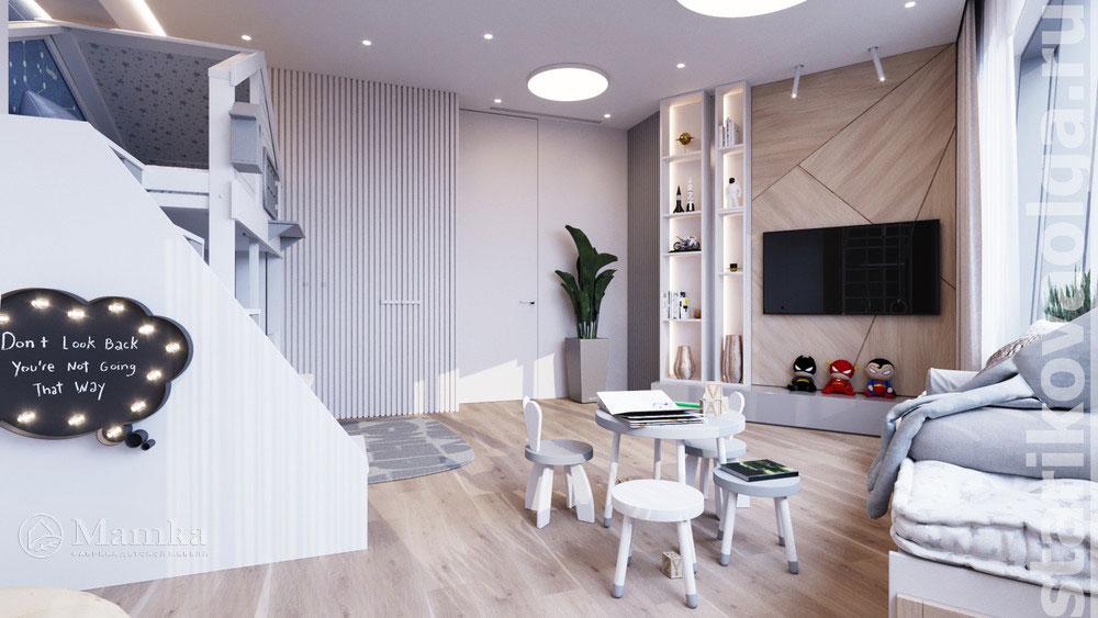 Дизайн интерьера детской комнаты, основанный на стильности и комфорте 4