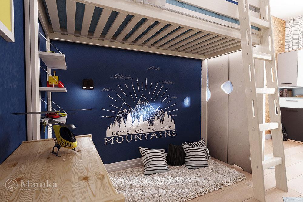 Интерьер детской комнаты с удобным и практичным наполнением 4