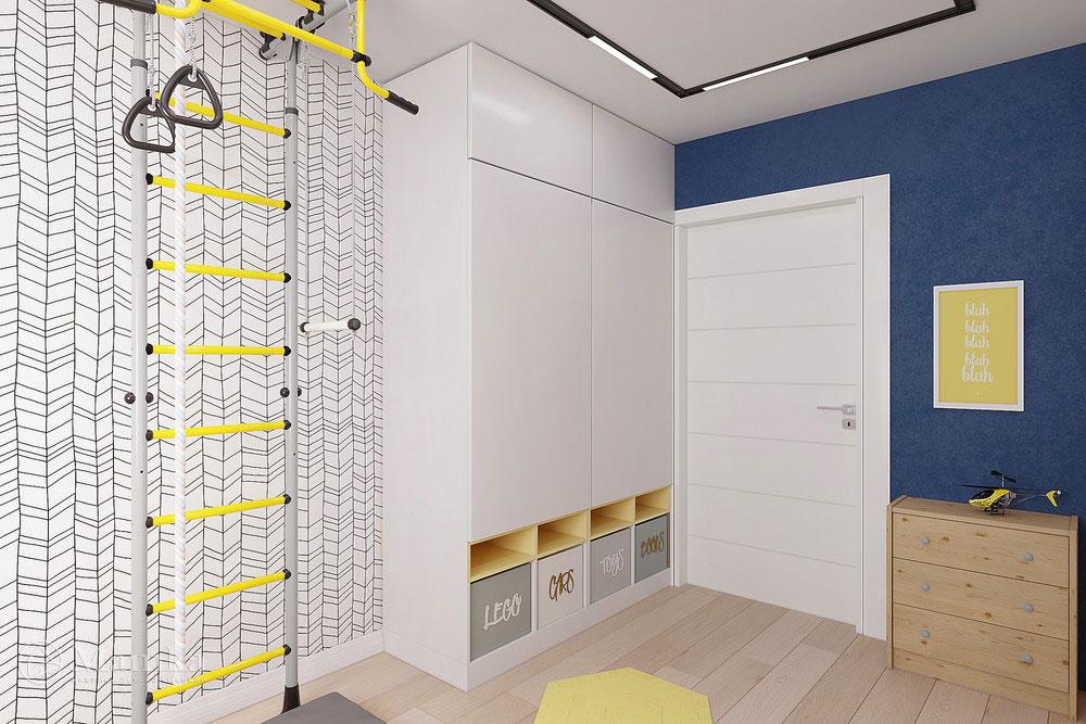 Интерьер детской комнаты с удобным и практичным наполнением 5