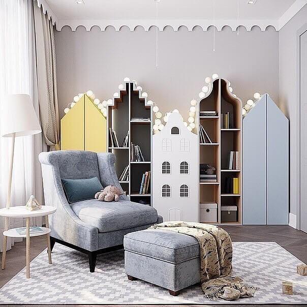 Дизайн детской мебели в форме домика 10