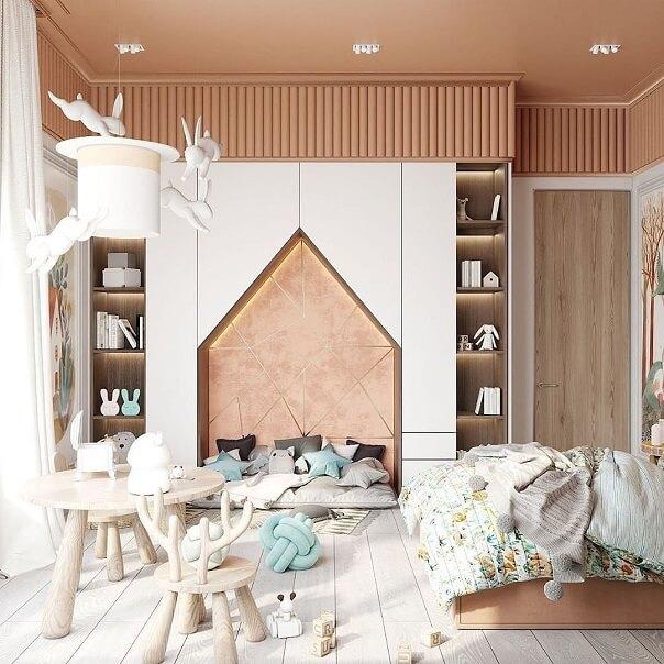 Дизайн детской мебели в форме домика 2