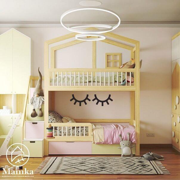 Дизайн детской мебели в форме домика 3