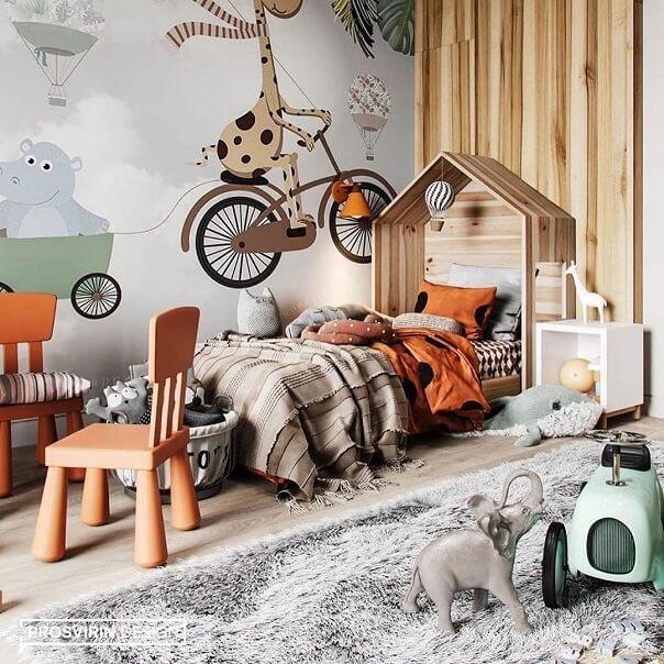Дизайн детской мебели в форме домика 4