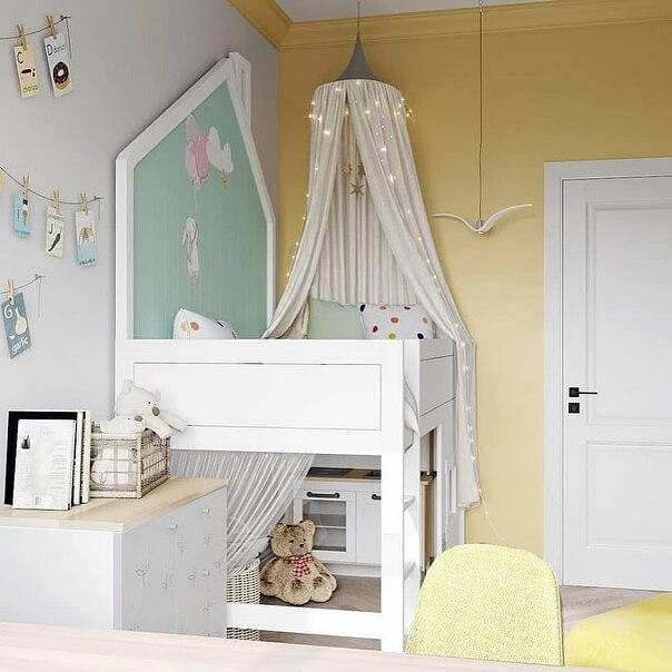Дизайн детской мебели в форме домика 5