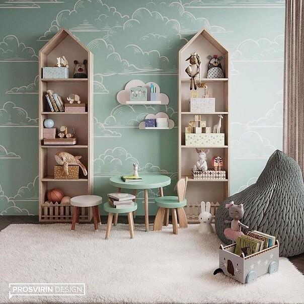 Дизайн детской мебели в форме домика 7