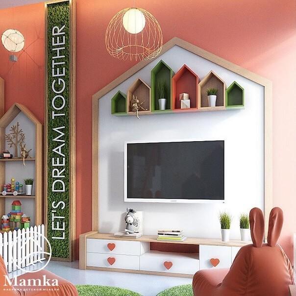 Дизайн детской мебели в форме домика 9
