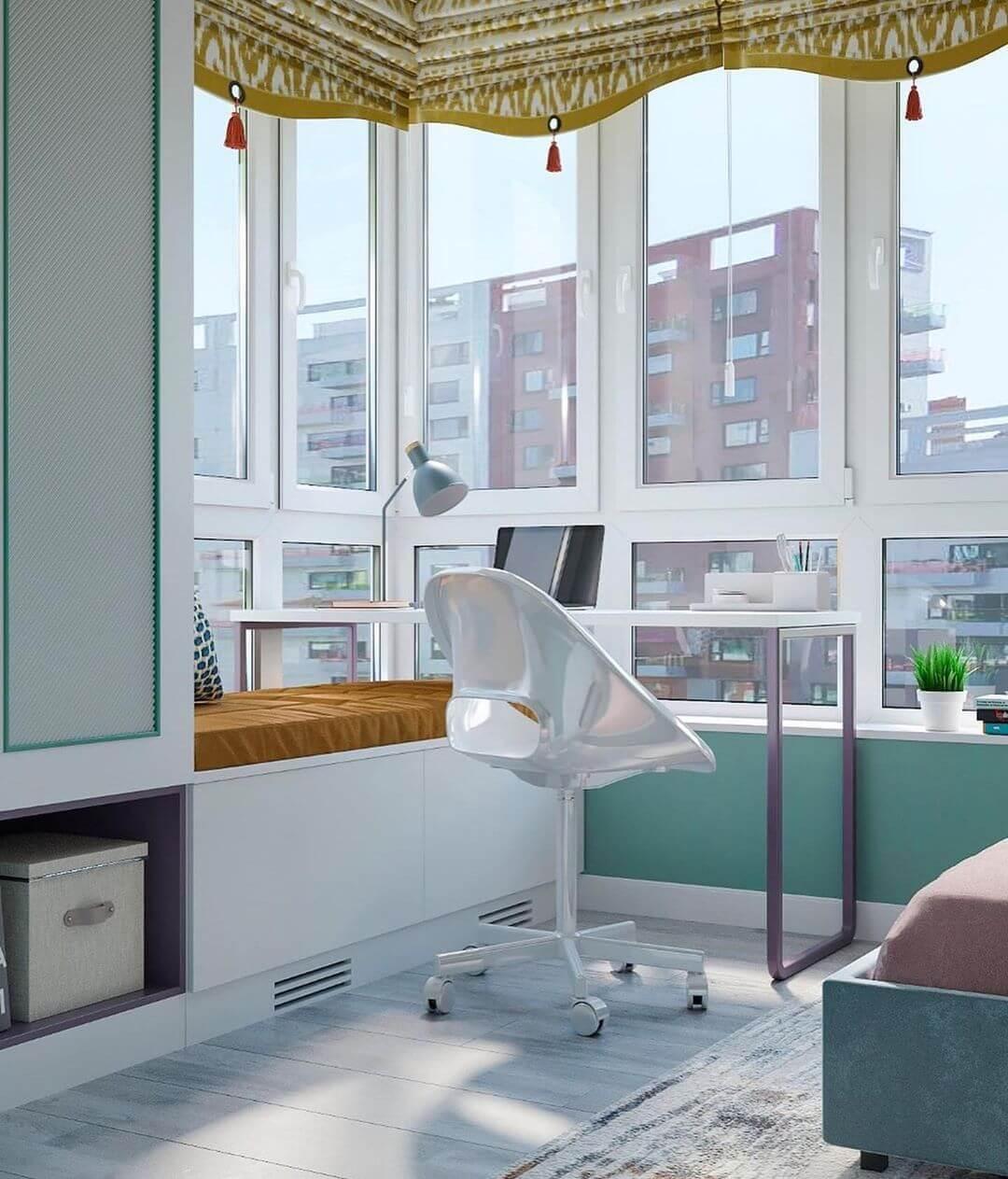 Дизайн детской спальни девочки в светло-зеленых тонах 4