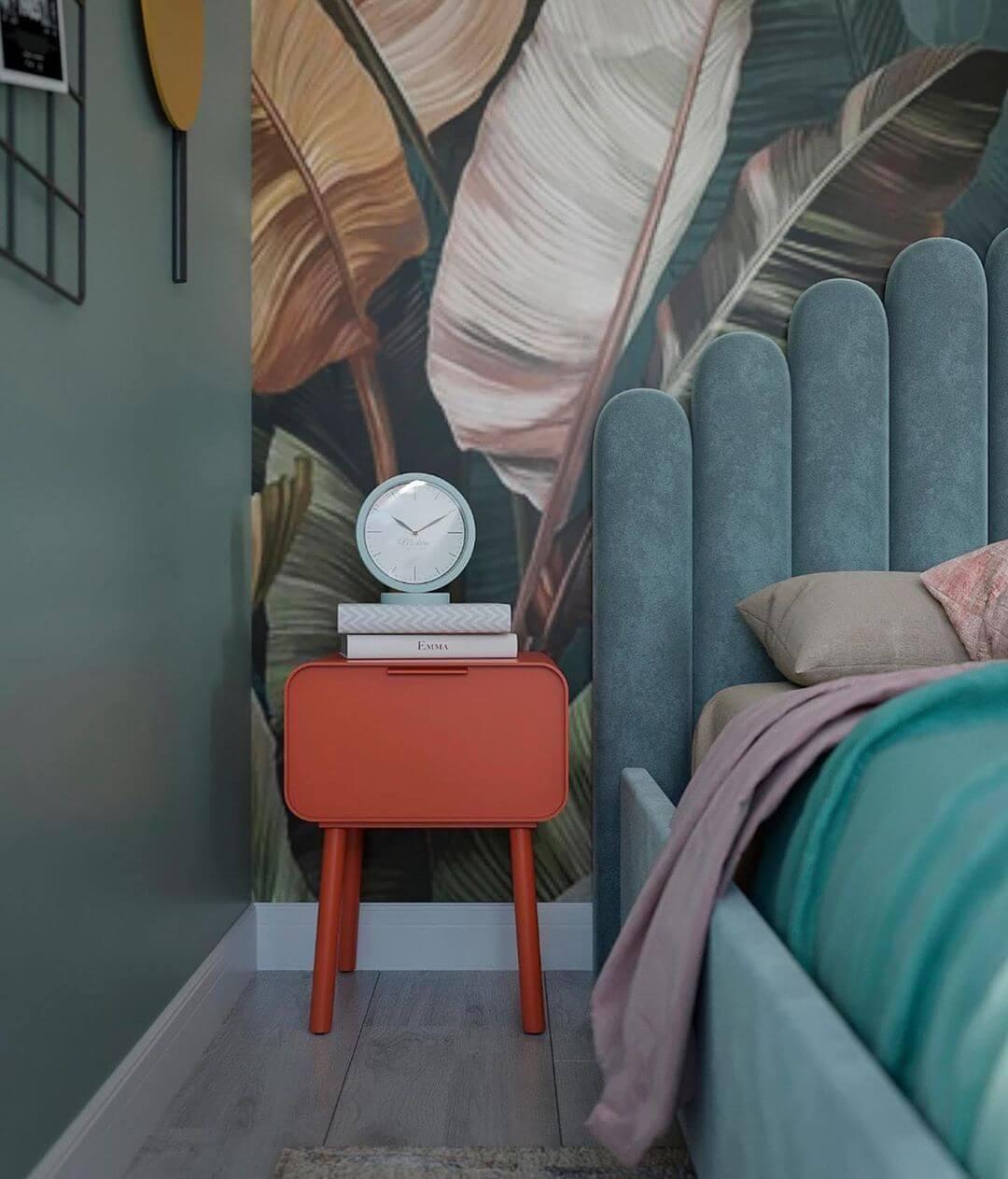 Дизайн детской спальни девочки в светло-зеленых тонах 6