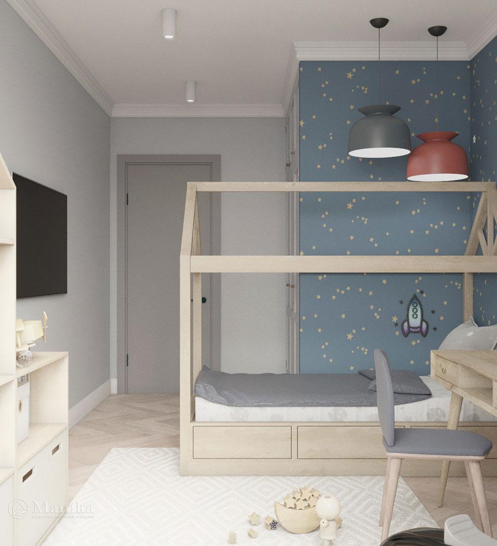 Красивый дизайн детской спальни для игр и отдыха 3